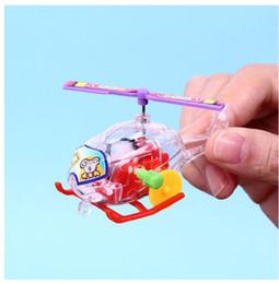 2019 ovos da mosca Minihelicopter Clockwork Toy Transparente Mini Aeronaves Quebra-cabeças Brinquedos para Crianças Avião alimentado Fisicamente Desenvolvendo crianças Explorando