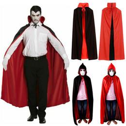 2020 túnicas rojas para los hombres 2 Estilo Negro Rojo Parca Diablo Cosplay Custume cuello alzado y capucha Capa del traje de Halloween del Cabo Hombre vestido de las mujeres de Cosplay rebajas túnicas rojas para los hombres