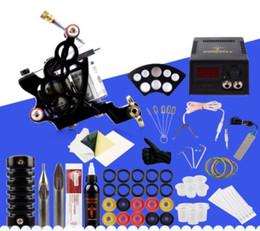 Tattoo Machine Set Kits Encre Noire Pigment Sets Alimentations Aiguilles Pas Cher Débutant Fournitures Tatouage pour Corps ? partir de fabricateur