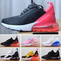 2019 nuevo diseño de zapatos de futbol Nike air max 270 NUEVOS niños zapatillas deportivas rojo negro blanco lobo gris niñas niños niños pequeños deporte informal zapatillas de deporte niños regalo de cumpleaños