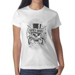 print graphic designer Coupons - Guns N' Roses Faded Skull white womens t shirt,shirts,t shirts,tee shirts printing graphic designer friends athletic t shirt