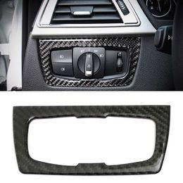 Schwarzes kohlefaserband online-Carbon Armaturenbrett Für BMW 3er GT / 4 Series F30 32 33 80 83 Scheinwerferschalter Innenausstattung mit Klebeband schwarz