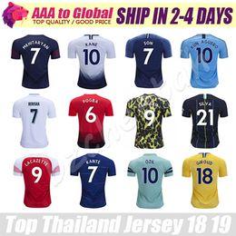 Top Tailandia Quality Club Jersey 18 19 De Bruyne de Gea Pogba Kane Ozil Kante Mane Hazard Fútbol usar camiseta de fútbol desde fabricantes