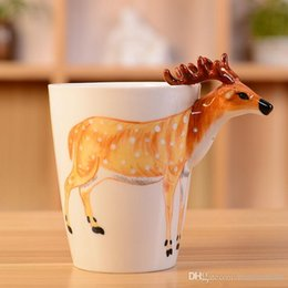90ml Creative Reflection cup cartoon PandaTigerDeerHorse