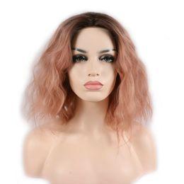 parrucche ricci di capelli umili ombre bang Sconti Parrucche di capelli umani parrucche brasiliane vergini capelli ricci parrucca piena del merletto brasiliano malese remy capelli parrucche anteriori per il nero
