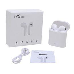 iphone bluetooth headphones Скидка i7s TWS Наушники Bluetooth 5.0 Наушники-вкладыши Беспроводные Bluetooth-наушники с микрофоном для iPhone Xs Air Smart Phone Стручки Беспроводные наушники