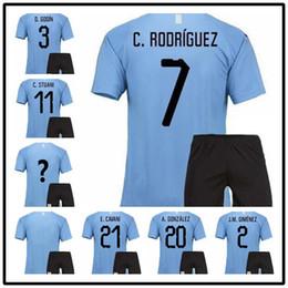 3dfc2cbc9 TOP2018 World Cup Suarez Uruguay Home blue adult kits Soccer Jersey TOP  QUALITY Edison Cavani Forlan Godin Uruguai 17 18 away Football shirt