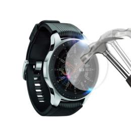 Protector de pantalla protector de rotura online-2 unids Para Samsung Galaxy Watch 42mm y 46mm Protector de Pantalla de Vidrio Templado Protector de Película Protectora Anti Explosión Anti-Shatter