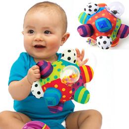 2019 pano bebê brinquedo bola Chocalho da mão Brinquedo Do Bebê Divertido Bola Pumpy Bonito Pano De Pelúcia Macia Mão Chocalhos Sino Treinamento Capacidade de Agarrar Brinquedo Meninos Meninas Meninas Anel Brinquedos desconto pano bebê brinquedo bola