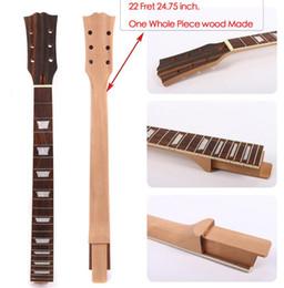 Remplacement de manche de guitare électrique en bois d'acajou 22 Frettes 24.75 pouces Set in # U1 ? partir de fabricateur