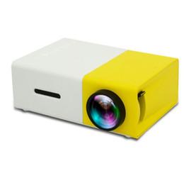 YG300 LED Projetor Portátil 400-600LM 3.5mm de Áudio 320x240 Pixels YG-300 HDMI USB Mini Projetor Home Media Player Chegam novas de Fornecedores de projetor 3d barato