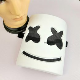 Cos máscara online-Máscara Cosplay Prop DJ Marshmello Máscara Halloween Cosplay Accesorios DJ Electronic Syllable Party Adult Kids Cos Cos Wholesale