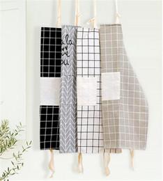Leinen für damen online-Dame Frauen Männer Einstellbare Baumwolle Leinen Hochwertige Küchenschürze Zum Kochen Backen Restaurant Schürze