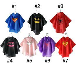 bc3170da2806a6 7 stile Colourful supereroe mantellina da pioggia per bambini impermeabile  impermeabile resistente di alta qualità rainwear
