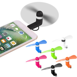 google chromecast all'ingrosso Sconti Mini ventilatore USB portatile Raffreddamento Raffreddamento Ventola USB per cellulare Micro USB Type C iPhone X 7 8 Plus PC portatile