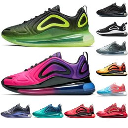 Nike air max 720 2019 Neue Schuhe Voll Gepolsterte Männer Frauen Neon Dreifach Schwarz Rosa Meer Carbon Grau Sonnenuntergang SONNENAUFGANG Metallic