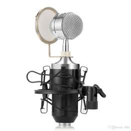Spina audio del computer online-LEIHAO BM8000 Microfono a condensatore professionale con registrazione sonora professionale con supporto per spina da 3,5 mm per registrazione audio personale KTV BA