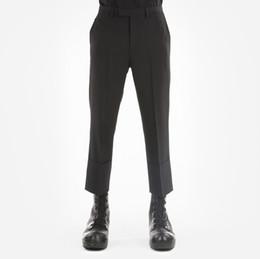 Nove minuti pantaloni online-S-6XL !! Pantaloni casual da uomo e nove minuti di pantaloni con un grande bordo riccio sono sottili e classici