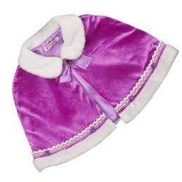Rhinestone encolhem os ombros on-line-Quente meninas Inverno Fur Wraps Xaile Princesa bowknot Rhinestone Cape Bolero Bolero Dress Up