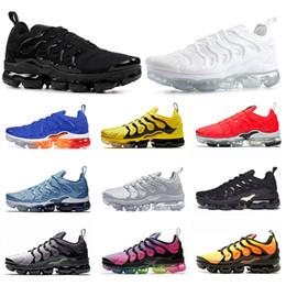 Work shoe online-Nike Air Max VAPORMAX TN Plus VM Hyper Blue TN Plus para mujer Zapatillas de running para hombre Degradado de plata Blanco EE. UU. Cebra off Classic Designer Casual Shoes Runner Athletic Sneakers