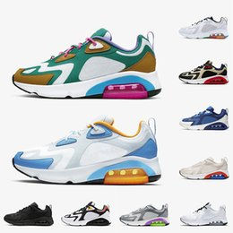 chaussures de course à pied Promotion Nike Air Max 200 Mystic Vert Hommes 200 Chaussures De Course Chaussures De Course Cool Gris Université Bleu Rouge 1992 World Stage Track Field Sneakers Chaussures