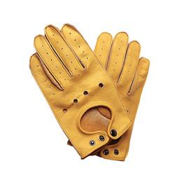 перчатки с кожаными перчатками Скидка Мотоциклетные перчатки Кожа Мужчины Ретро Guantes Moto Полные перчатки пальцев Мото Винтаж Мотоцикл Байкер Сенсорный езда