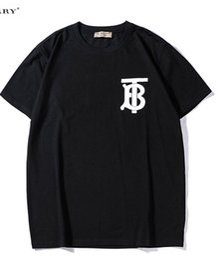tb großhandel Rabatt 2019 neue tee schwarz bbr männer frauen TB brief logo muster drucken T-Shirt kurzarm Oansatz T-Shirt großhandel S-XXL