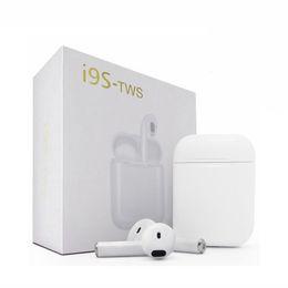 2019 vendere la mora I più venduti I9S Tws Cuffie stereo TWS Auricolari per IOS Android Phone Plus Con scatola di ricarica Cuffie Bluetooth senza fili con scatola sconti vendere la mora