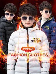 große jungs daunenjacke Rabatt Europa und die Winter Junge Baumwollmantel Kinder Baumwolljacke dicken Mantel Junge USA Fett großer Junge nach unten Wattepad Winterkleidung