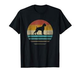 2019 hund shirt frau Männer T Shirt Boxer Hund Shirt Retro Vintage 70er Jahre Silhouette Rasse Geschenk Frauen T-Shirt günstig hund shirt frau