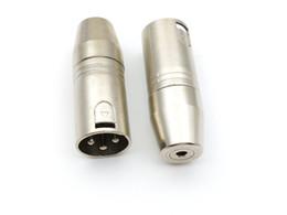 Xlr audio on-line-10pcs 3 pinos XLR Audio Male Plug Conector TO conector de soquete estéreo de 3,5 mm