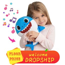 baby toys new Coupons - 30CM Baby SHARK Plush Toys 9 Styles 3 Colors 12inch Music English Singing&Lighting Stuffed&Plush Dolls Sing&Led Music Shark DAD MOMMY BABY