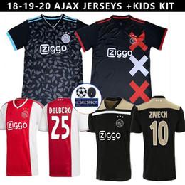 2019 20 Ajax DE JONG TADIC 18 19 20 camisetas de fútbol rojas locales NERES ZIYECH tercero fuera camisetas de fútbol negras ajax Camisas De Futebol DE LIGT desde fabricantes