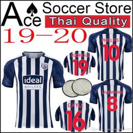Argentina Nueva camiseta de fútbol de West Bromwich PHILLIPS GAYLE 19 20 Hogar lejos azul Sudadera blanca RODRIGUE Uniforme de fútbol 2019 2020 LIVERMOPE cheap west uniform Suministro