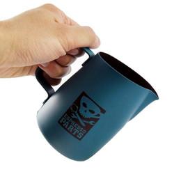 Lanciatore di latte in acciaio online-Latte di Asipartan Latte in acciaio inossidabile Brocca di latte espresso Brocche di schiumatura Latte Caffè Pull Barista di tazza di caffè Strumento 420ml 700ml