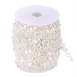 Decorazioni di tende diamanti online-99FT 30M acrilico diamante tallone tenda fai da te ghirlanda decorazione della festa nuziale di cristallo accessori da sposa casa ornamenti tenda