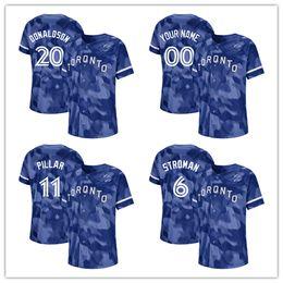 67ef14c8e blue jays jersey s Promo Codes - Custom 2019 2020 NK Toronto 6 Marcus  Stroman 11