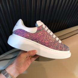 Pelle shose online-Scarpe firmate MENS Suola in cuoio sneaker uomo donna shose fashion platform ace bianco casaul scarpe di alta qualità