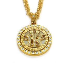 Canada Discothèque NY Symbole Collier Sertie De Diamants Marée Pendentif Circulaire Cadeaux D'anniversaire Hommes / Femmes Mode Sport Accessoires Hip Hop Culture Offre
