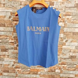 Balmain Damen Designer T Shirts Balmain Damen Designer Bekleidung Luxus Streifen Kurzarm Damen Bekleidung Größe S-L von Fabrikanten