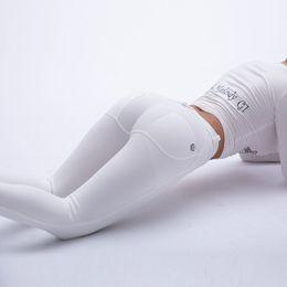 2019 pantaloni bianchi yoga all'ingrosso Pantaloni da yoga all'ingrosso melody bianco leggings da palestra leggings da donna sportswear pantaloni da yoga fitness in stock per sempre pantaloni bianchi yoga all'ingrosso economici
