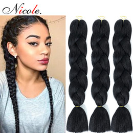 blue ombre braiding hair Coupons - Wholesale Kanekalon Jumbo Braiding Hair Synthetic Twist 24 Inch Ombre Kanekalon Braids Hair Extension 1Piece 100g PCS Free Shipping