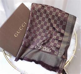 2019 echtes pelzstirnband Neue Modemarke 100% Seidenschal Luxus Designer Damen Luxusmarken Schal Elegante Damen Wrap lange Schals 180x70 cm