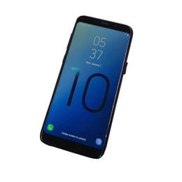 Huella dactilar real goophone octa core online-Goophone S10 con huella dactilar Android Teléfono celular MTK6580 Quad Core 1 + 8g show Octa core 4G RAM 128G ROM mostrada 4G teléfono inteligente real 3G DHL gratis