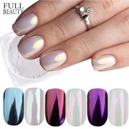 Красота ногтей поле онлайн-Full Beauty 3 Boxes Mirror Powder Set Nail Art Chrome Pigment Dust Shell DIY Glitter Manicure Blue Purple Decor Tips CHB01/03/04