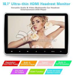 2019 pantalla táctil de radio crda honda Caliente 10.1 pulgadas Digital TFT HD Pantalla LCD DVD del coche Reposacabezas Monitor DVD / SD / TV Player / USB