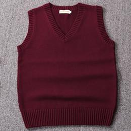 Canada Nouveau, Vin rouge / vert / café couleur pull veste couleur unie JK cosplay pull fille école gilet cheap red wine color sweater Offre