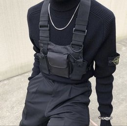 militär radio walkie talkie Rabatt Tactical Vest Nylon militärische Weste Brust rig Pack-Beutel-Pistolenhalfter Tactical Harness Walkie-Talkie-Radio Hüfttasche für Zweiwegradio CJ191201