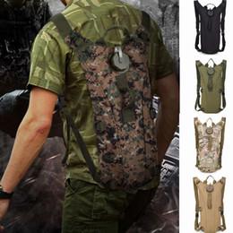 mochila de hidratación bolsa Rebajas Bolsa de agua 3L Molle Tactical Hydration Mochila Bolsa de agua para acampar al aire libre Bolsa de camuflaje 11 colores ZZA514