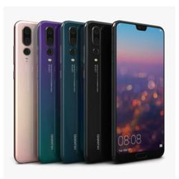 "smartphone en acier inoxydable Promotion Original Smart Phone Huawei P20 4G LTE Cell Phone 6 Go RAM 64 Go 128 Go ROM Kirin 970 Octa base Android 5.8"" Plein écran 24.0MP Téléphone mobile"